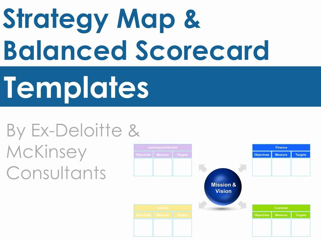 Balanced Scorecard Template Ppt Luxury Strategy Map Template & Balanced Scorecard Template