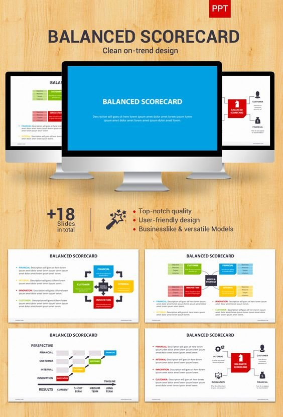 Balanced Scorecard Template Ppt Unique Pinterest • the World's Catalog Of Ideas