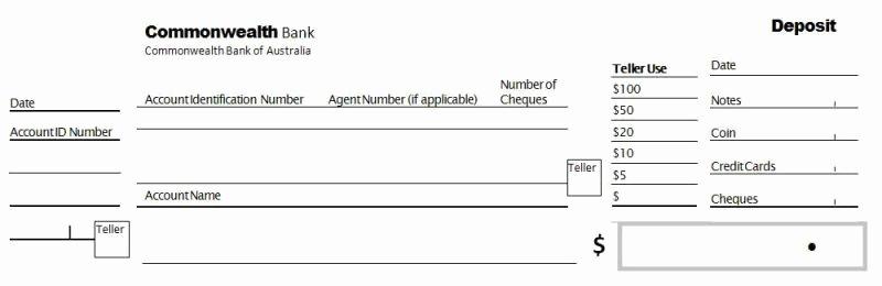 Bank Deposit Slip Template Elegant 5 Bank Deposit Slip Templates Excel Xlts