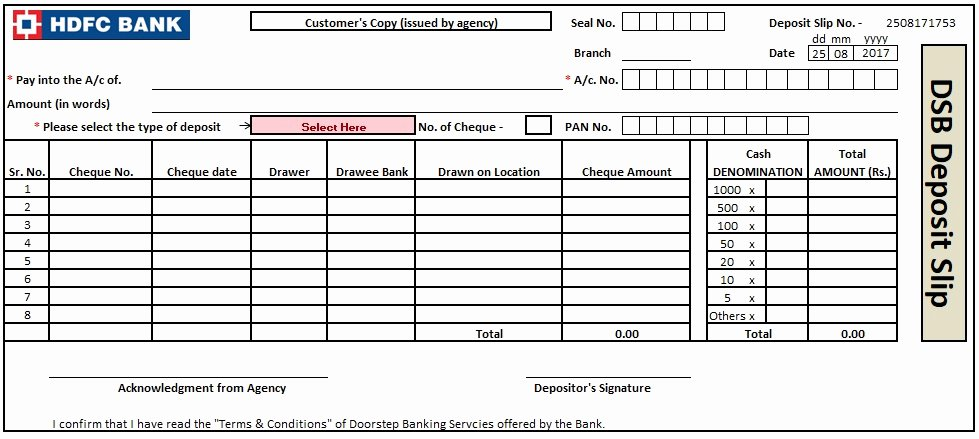 Bank Deposit Slip Template Fresh 3 Bank Deposit Slip Template Excel Word and Pdf Excel Tmp