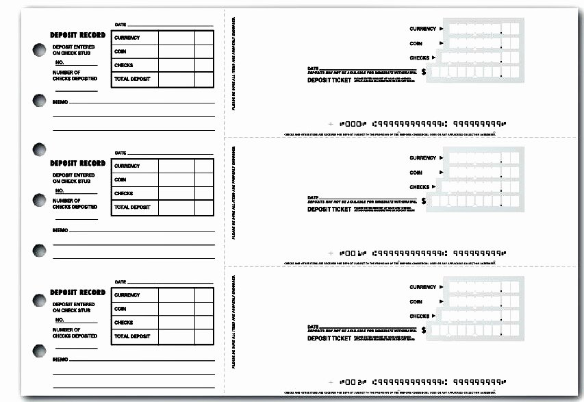 Bank Deposit Slip Template Inspirational 4 Printable Bank Deposit Slip Template Excel – Template124
