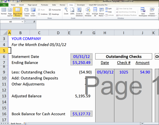 Bank Reconciliation Excel Template Beautiful Bank Reconciliation Template 5 Easy Steps to Balance Your