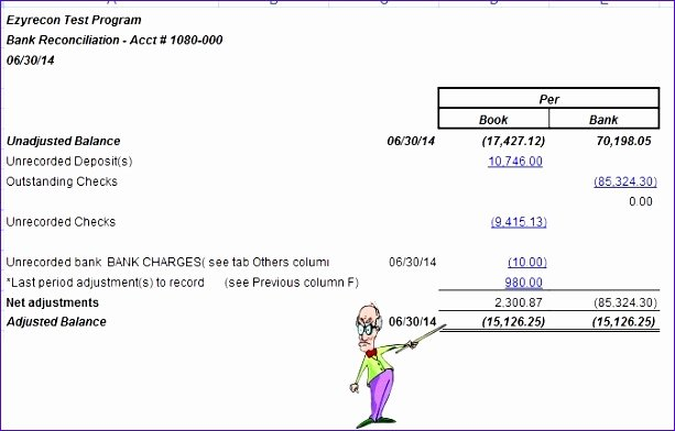 Bank Reconciliation Excel Template Lovely 6 Bank Reconciliation Template Excel Exceltemplates