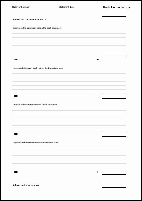 Bank Reconciliation Excel Template Luxury Bank Reconciliation Template