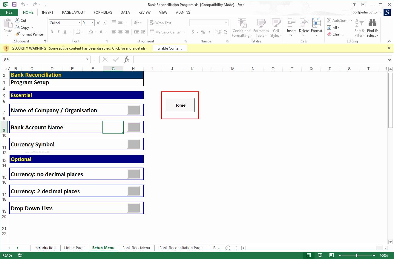 Bank Reconciliation Excel Template Luxury Download Bank Reconciliation Program 2 02