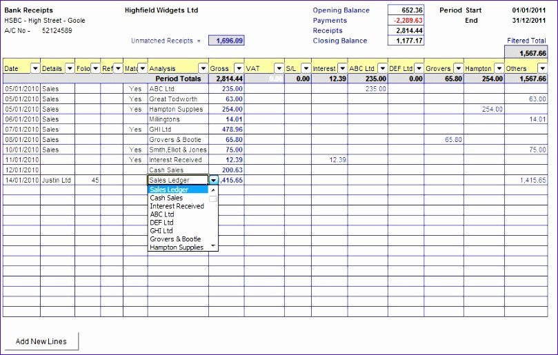 Bank Reconciliation Excel Template New 6 Excel Bank Reconciliation Template Exceltemplates
