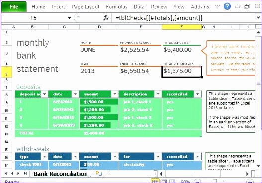 Bank Reconciliation Template Excel Best Of 5 Account Reconciliation Template Excel Exceltemplates