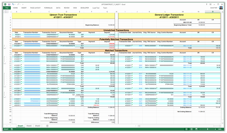 Bank Reconciliation Template Excel Elegant Mdgp 2013 Feature Of the Day Reconcile Bank