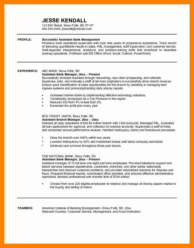 Bank Teller Resume Template Inspirational Bank Teller Resume Objective