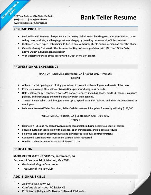 Bank Teller Resume Template Unique Bank Teller Resume Sample & Writing Tips
