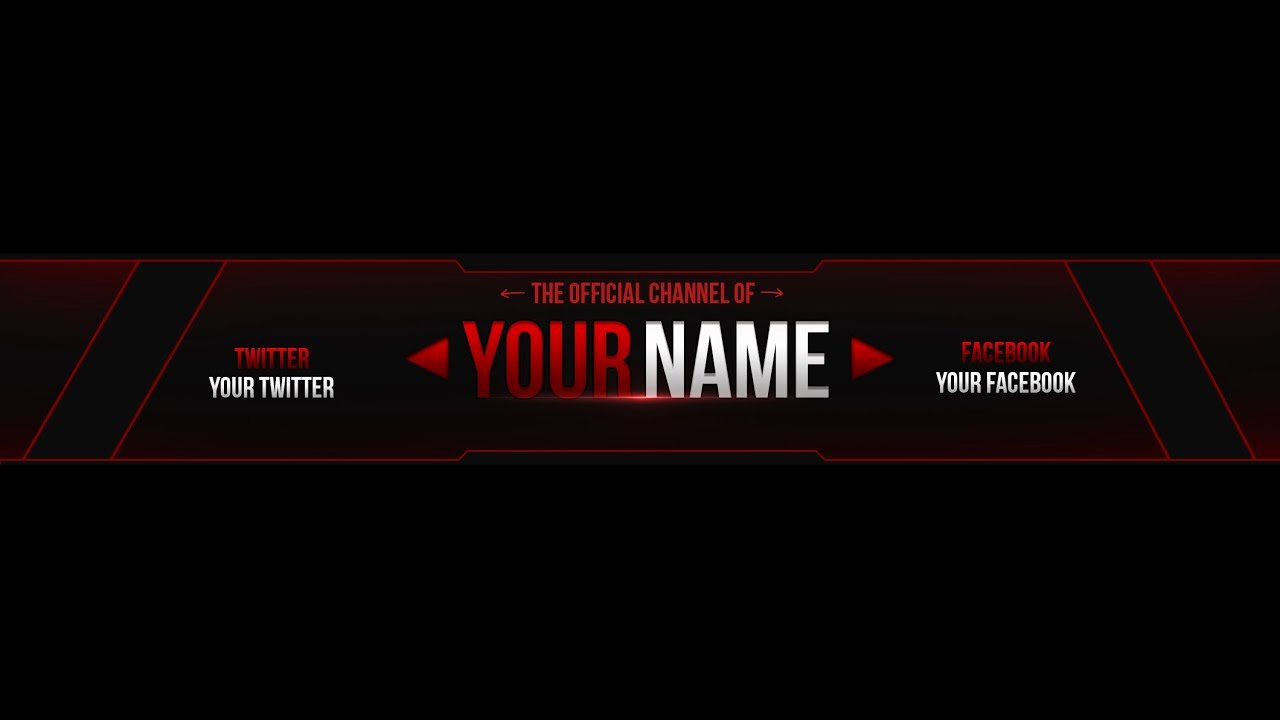 Banner Template No Text Lovely Free Youtube Banner Template Edit Cs6 1