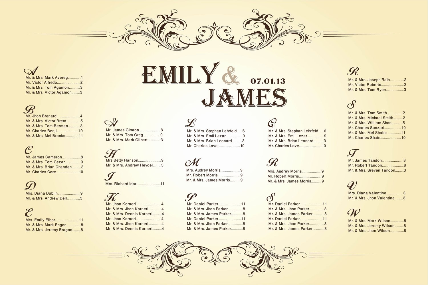 Banquet Seating Chart Template Inspirational 6 Best Of Printable Wedding Table Seating Chart
