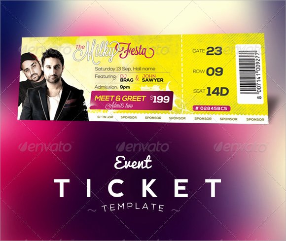 Banquet Tickets Template Free Awesome 22 Sample Amazing event Ticket Templates to Download