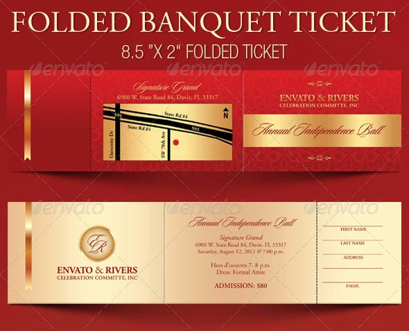 Banquet Tickets Template Free Beautiful event Ticket Template