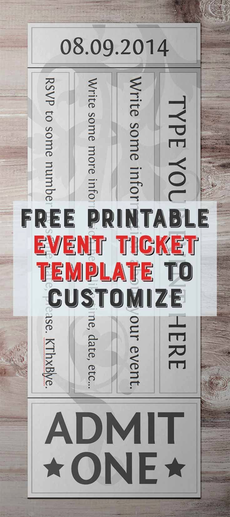 Banquet Tickets Template Free Beautiful Free Printable event Ticket Templates