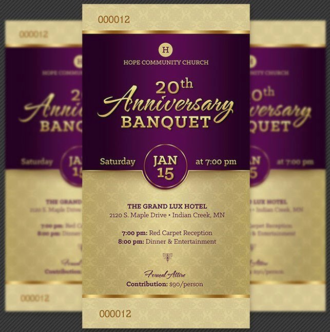 Banquet Tickets Template Free Elegant Amazing Ticket Templates for Church and Fundraising events