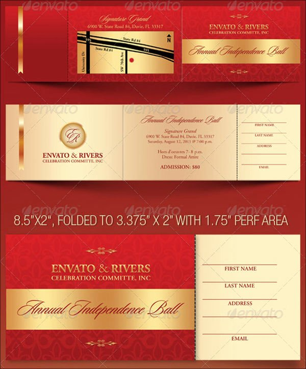 Banquet Tickets Template Free Inspirational 8 Banquet Ticket Templates Free Psd Ai Vector Eps