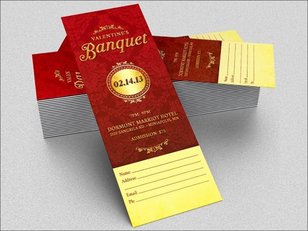 Banquet Tickets Template Free New 8 Banquet Ticket Templates Free Psd Ai Vector Eps