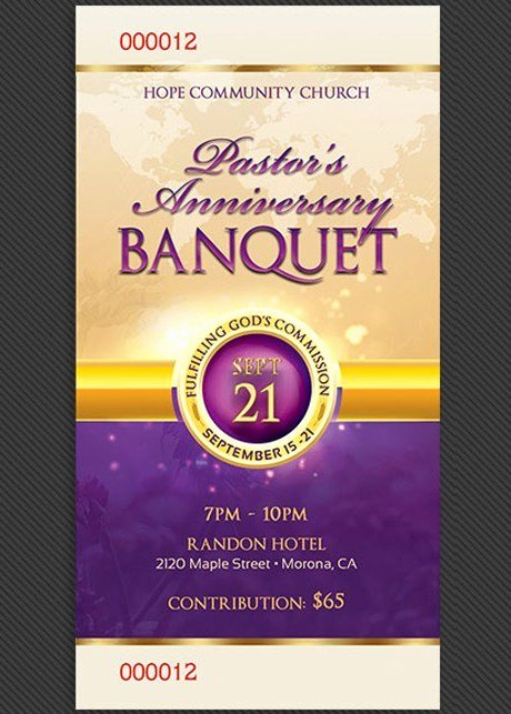 Banquet Tickets Template Free Unique Amazing Ticket Templates for Church and Fundraising events