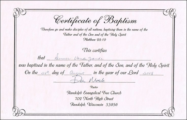 Baptism Certificate Template Free Best Of Baptism Certificate Templates for Word