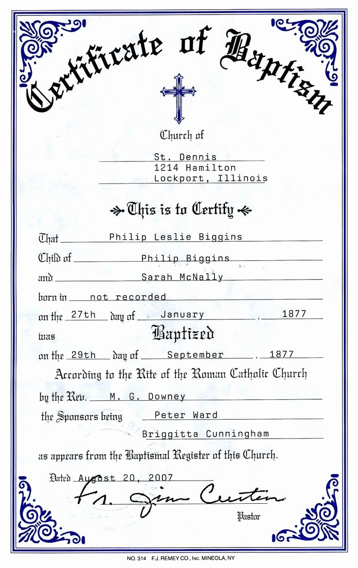 Baptism Certificate Template Free Best Of Catholic Baptism Certificate Yahoo Image Search Results