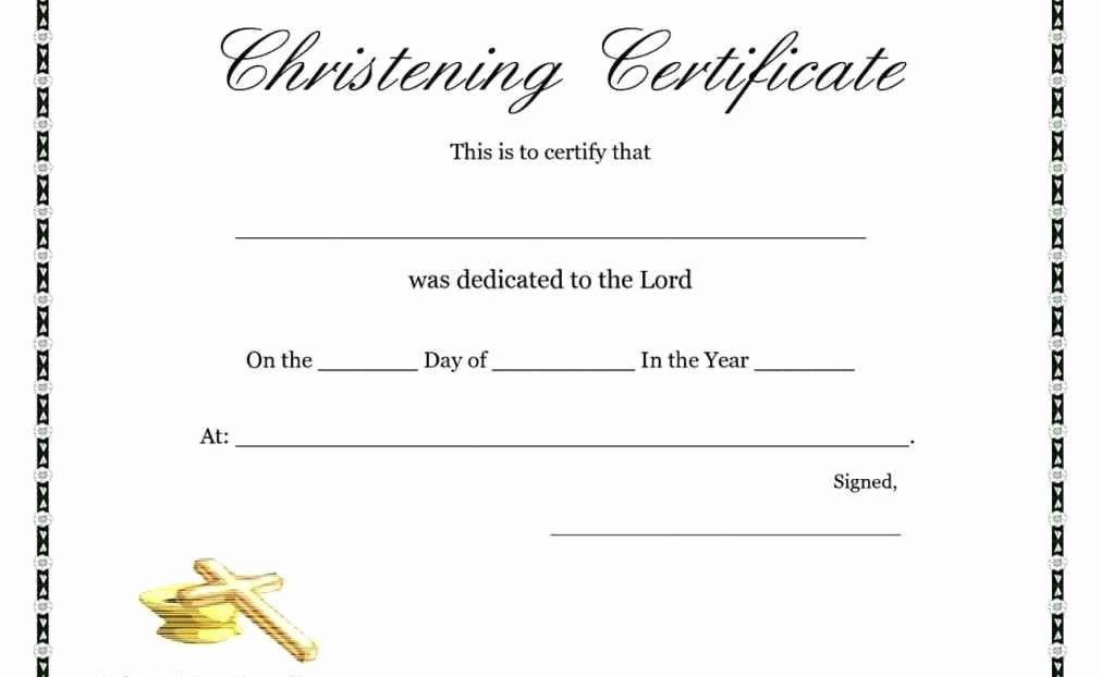 Baptism Certificate Template Free Best Of Free Printable Baptism Certificate Template Update234