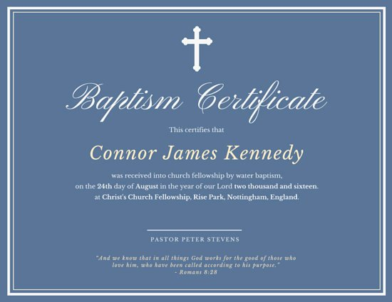 Baptism Certificate Template Free Elegant Elegant Baptismal Certificate Templates by Canva