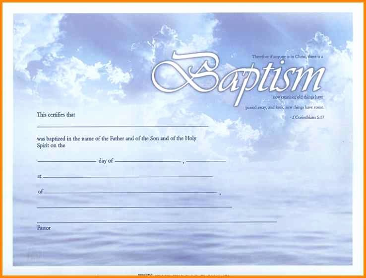 Baptism Certificate Template Free Inspirational 10 Baptismal Certificate Templates