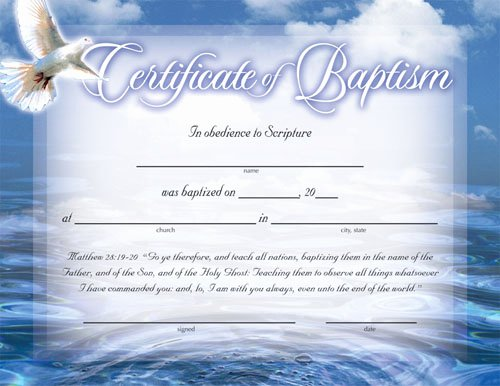 Baptism Certificate Template Free Luxury Certificate Of Baptism Certificates Church Supplies