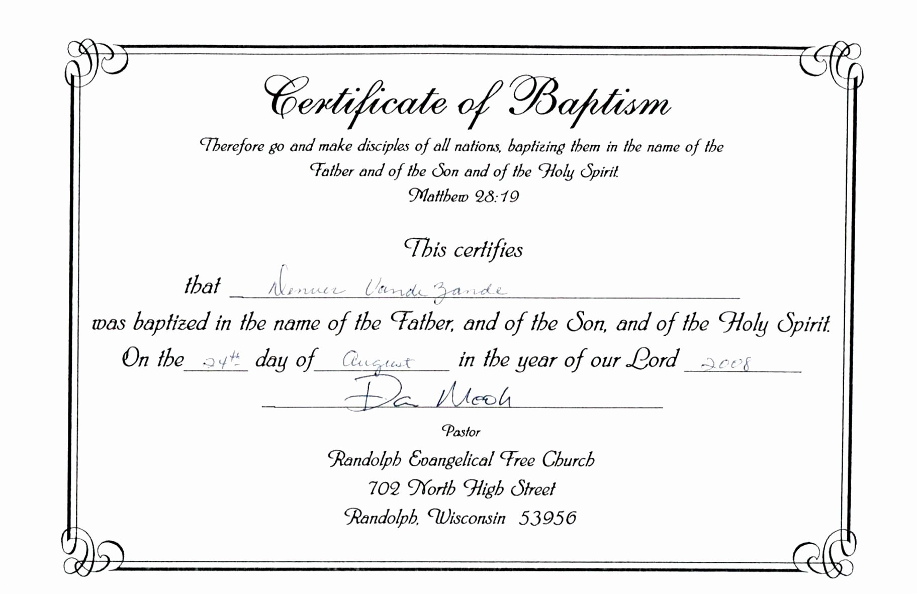 free printable baptism certificates templates