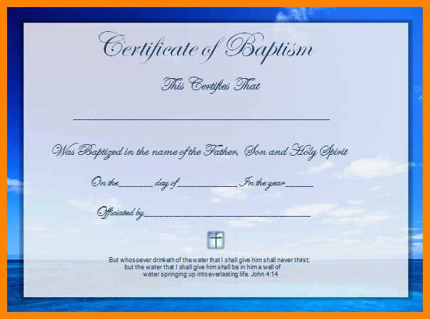 Baptism Certificate Template Word Fresh Baptismal Certificates Template Ptism Certificate