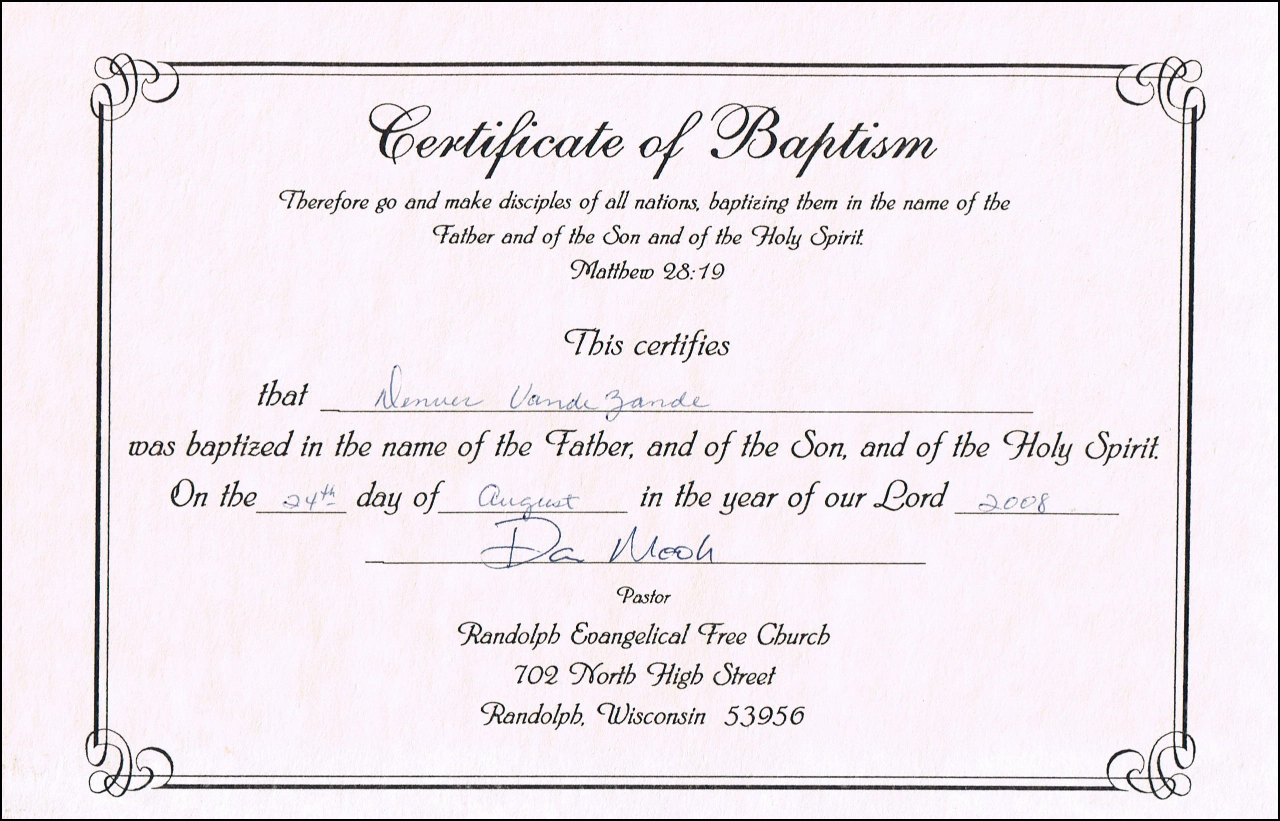 Baptism Certificate Template Word Lovely Baptism Certificate Templates for Word