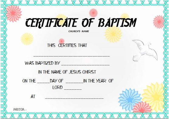 Baptism Certificate Template Word Luxury 30 Baptism Certificate Templates Free Samples Word