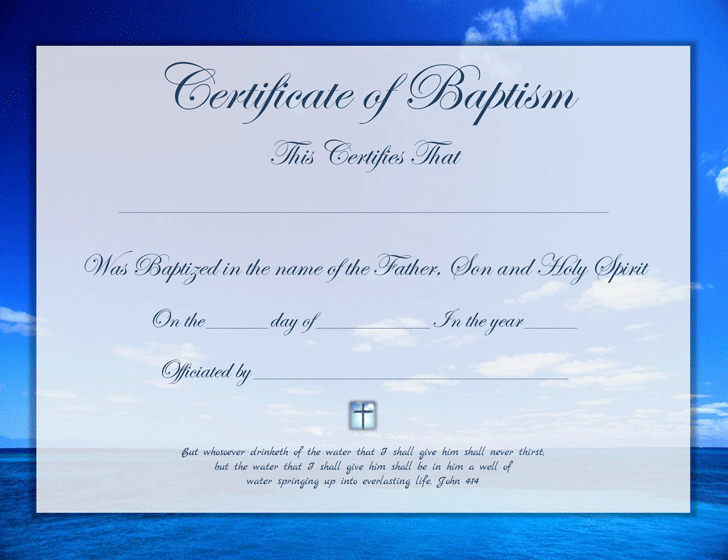 Baptism Certificate Template Word Unique Baptism Certificate Template Free Download
