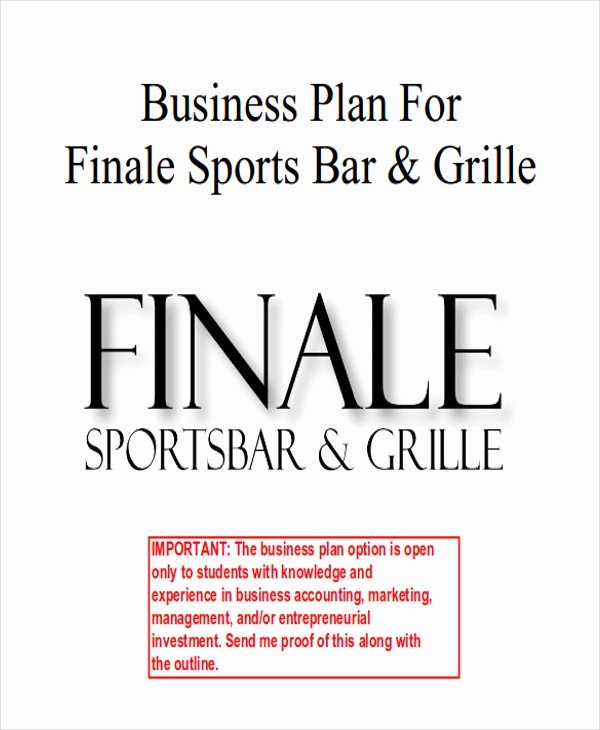 Bar Business Plan Template Beautiful 7 Sample Bar Business Plans