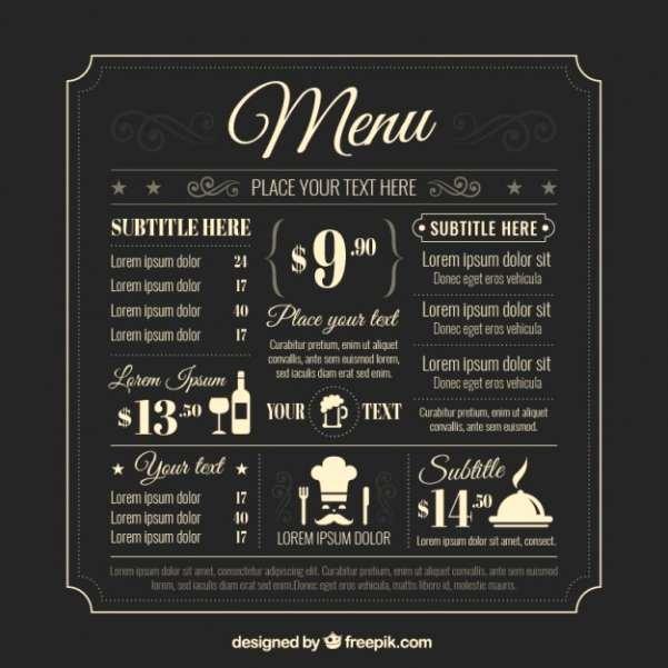 Bar Menu Template Free Awesome 50 Free Food & Restaurant Menu Templates Xdesigns