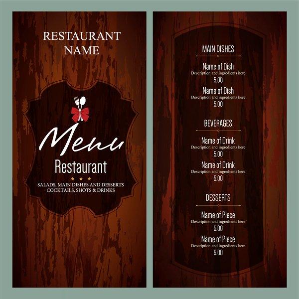 Bar Menu Template Free Beautiful the Gallery for Fancy Restaurant Menu Template