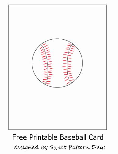 Baseball Card Size Template Beautiful Free Printable Baseball Card