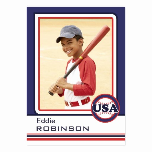 Baseball Card Size Template Fresh Create Your Own Baseball Card Business Cards Pack