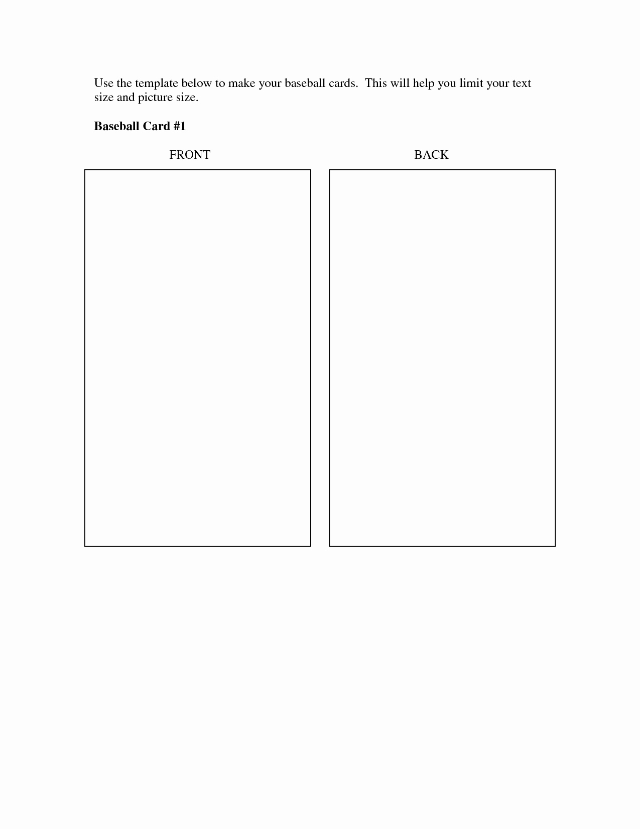 Baseball Card Size Template New Best S Of Baseball Trading Card Template Printable