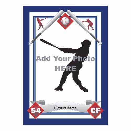 Baseball Card Template Free Awesome Baseball Card Template