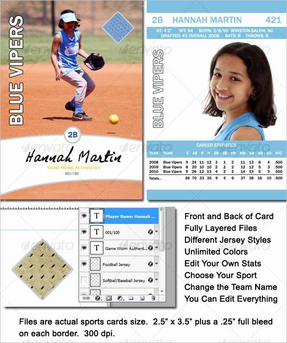 Baseball Card Template Free Beautiful 16 Baseball Card Templates Psd Ai Eps