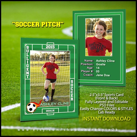 Baseball Card Template Free Best Of 2017 soccer Sports Trader Card Template for Shop soccer