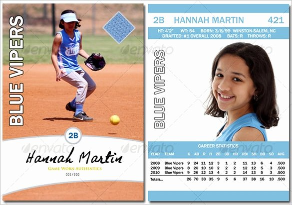 Baseball Card Template Free Elegant Baseball Card Template Free Invitation Template