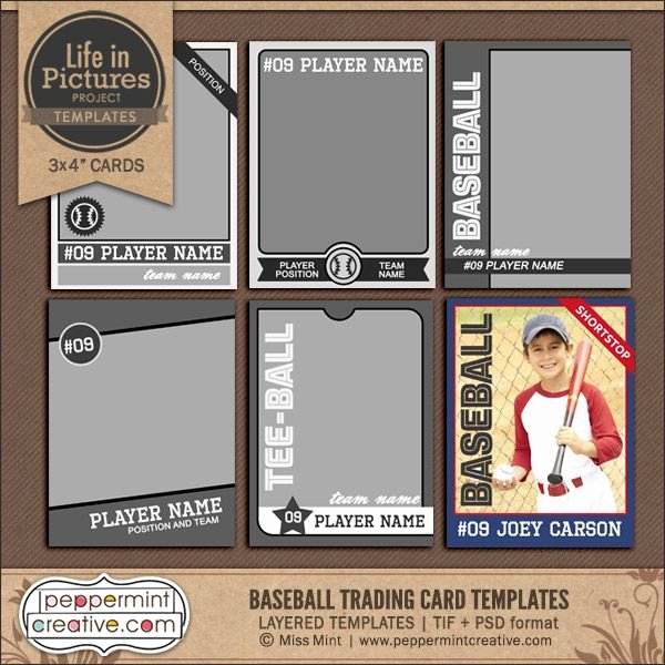 Baseball Card Template Free Fresh Best 25 Trading Card Template Ideas On Pinterest