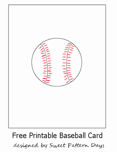 Baseball Card Template Free Inspirational Free Printable Baseball Card