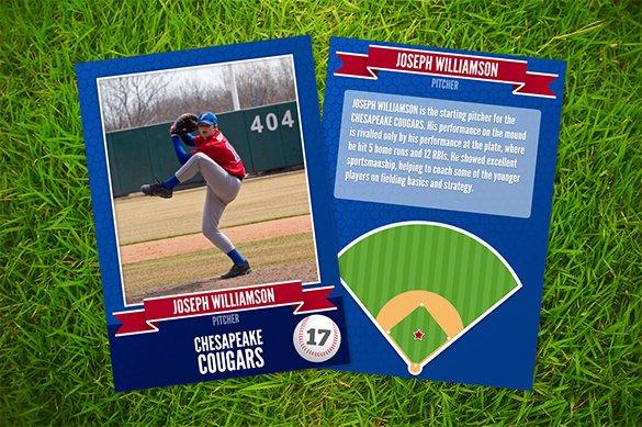 Baseball Card Template Free Lovely Baseball Card Template – 9 Free Printable Word Pdf Psd