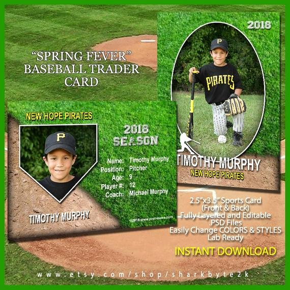 Baseball Card Template Free Lovely Baseball Sports Trader Card Template for Shop Spring