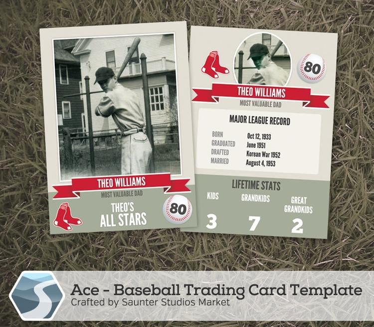 Baseball Card Template Free New Ace Baseball Trading Card 2 5 X 3 5 Shop by