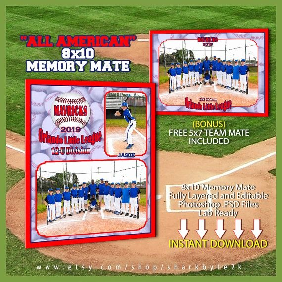 Baseball Card Template Photoshop Awesome Baseball Memory Mate Template for Shop All by